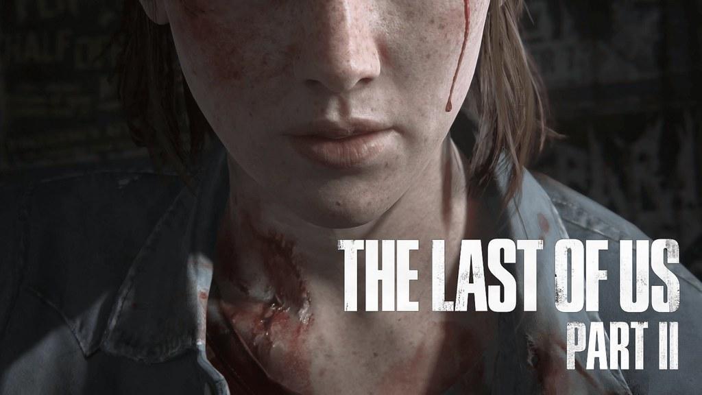 Primer plano de la protagonista del juego, el recorte de la imagen es desde el inicio de la nariz hasta la clavícula. Lleva una camisa gris ensangrentada. Una gota de sangre se desliza por la mejilla de la derecha, a la izquierda del cuello tiene una herida.