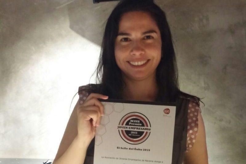 Marcela Vega con el Premio